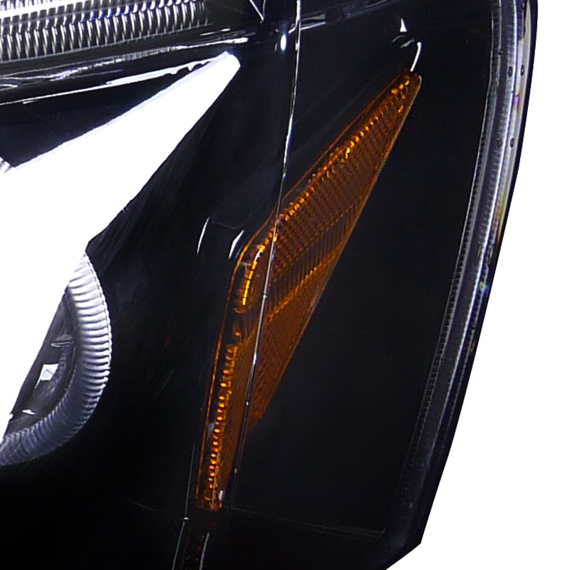 2002-2004 Acura RSX Dual Halo & LED Strip Projector