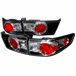 Spec-D 2003-2005 Honda Accord 4DR JDM Style Altezza Tail Lights - Black