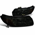 Spec-D 2006-2011 Honda Civic FG 2DR Coupe Crystal Headlights - Smoked