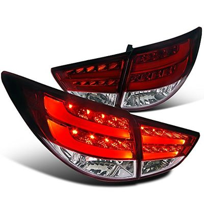 Spec-D 2010-2012 Hyundai Tucson LED Tail Lights - Red Clear