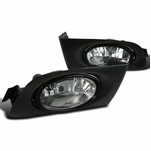 Spec-D Tuning 01-03 Fit Honda Civic 2/4dr Clear Fog Lights Driving Bumper Lamps w/ Switch
