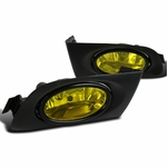 Spec-D Tuning 01-03 Fit Honda Civic 2/4dr Yellow Fog Lights Driving Bumper Lamps w/ Switch