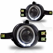 Winjet 02-08 Dodge Ram Angel Eye Halo Projector Fog Lights Kit - Clear