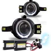 HID Xenon + Winjet 02-08 Dodge Ram Angel Eye Halo Projector Fog Lights Kit - Clear