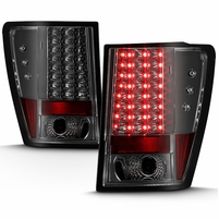 Spyder 05-06 Jeep Grand Cherokee Full LED Performance LED Tail Lights - Smoked