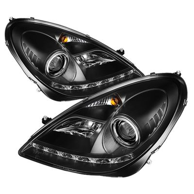 05-10 Mercedes Benz SLK [Xenon/HID Model Only] LED DRL Projector Headlights -  Black