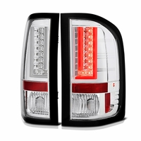 Spyder 07-13 Chevy Silverado / GMC Sierra V2 LED Tail Lights - Chrome