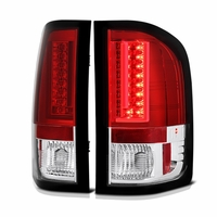 Spyder 07-13 Chevy Silverado / GMC Sierra V2 LED Tail Lights - Red Clear