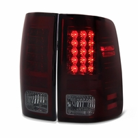 Spyder 09-2018 Dodge RAM [Non Factory LED Model] Performance LED Tail Lights - Red Smoked