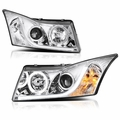 Spyder 11-13 Chevy Cruze DRL LED-Strip Halo Projector Headlights - Chrome