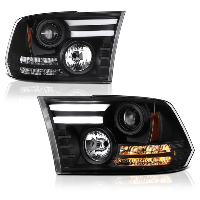 Spyder 13-16 Dodge RAM [Factory Projector] LED DRL Projector