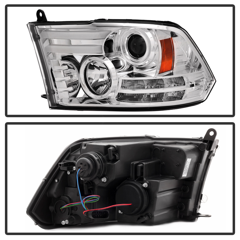 Spyder 13-18 Dodge RAM [Factory Projector] LED DRL Projector