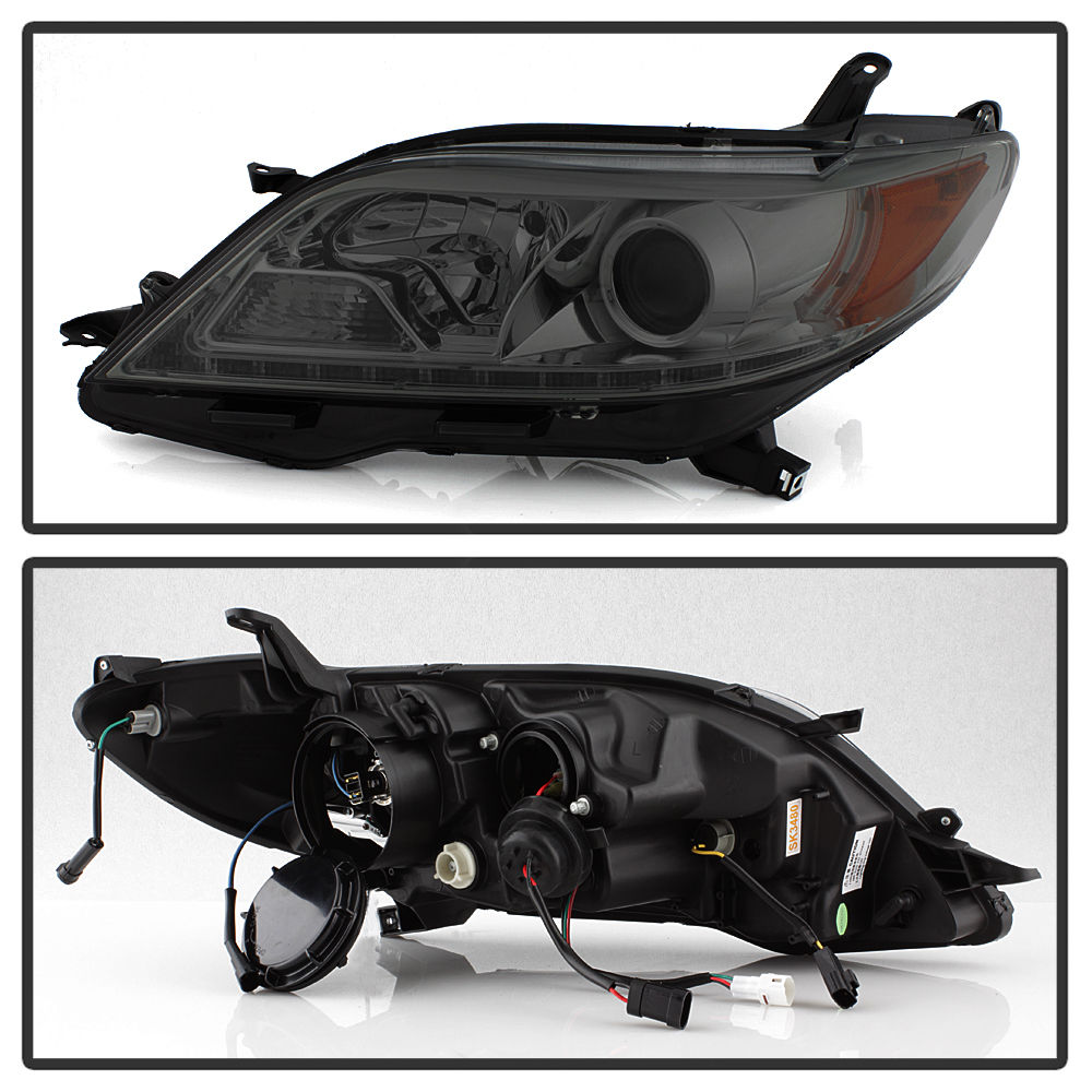 Upgrade Fits 15-17 Toyota Sienna SE Limited Smoked LED DRL Projector Headlight
