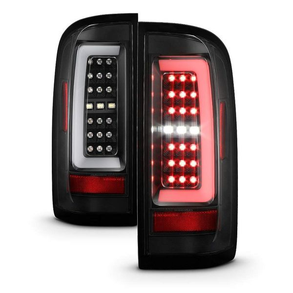 2015-2021 Chevy Colorado C-Style LED Tube Tail Lights - Black
