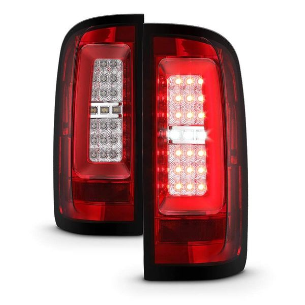Spyder 15-19 Chevy Colorado C-Style LED Tube Tail Lights - Red