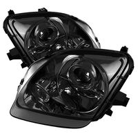 Spyder 1997-2001 Honda Prelude Angel Eye Halo Projector Headlights - Smoked