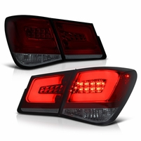 Spyder 2010-2016 Chevy Cruze PHILIPS-LED Light Tube Performance Tail lights - Red Smoked