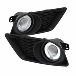 2011-2013 Dodge Charger Angel Eye Halo Projector Fog Lights - Clear