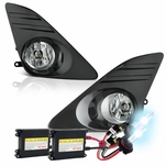 2012+ Toyota Camry Oem Clear Fog Lights + HID Kit - Black Cover
