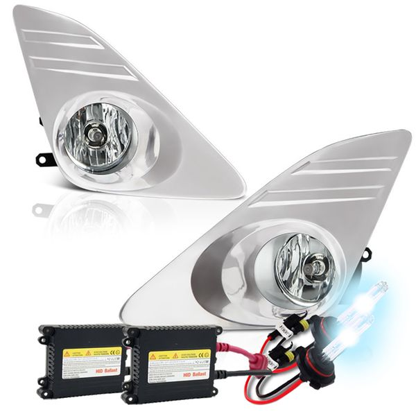 2012+ Toyota Camry Oem Clear Fog Lights + HID Kit - Chrome Cover