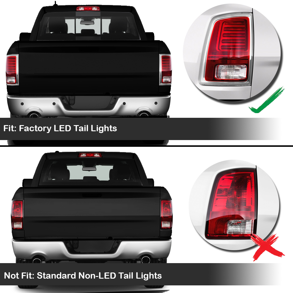 Spyder 2013 17 Dodge Ram Truck Factory Led Model Tail Lights 2014 1500 Projector Headlights Black Smoked