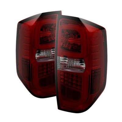Spyder 2014-2019 Toyota Tundra Optic-Style Performance LED Tail Lights - Red Smoked