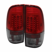 Spyder 97-03 Ford F150 V2 LED Tail Lights - Red Smoked