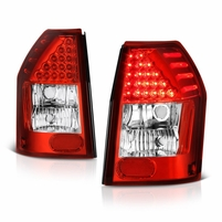 Dodge Magnum 05-08 LED Tail Lights - Red Clear