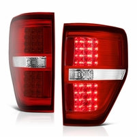 Spyder ALT-JH-FF15009-LED-RC 09-14 Ford F150 LED Tail Lights - Red Clear