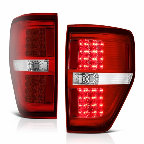 09-14 Ford F150 LED Tail Lights - Red Clear