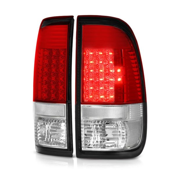 Ford Super Duty F-250/ F-350/ F-450 08-16 LED Tail Lights - Red Clear