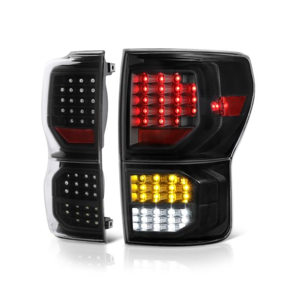 Toyota Tundra 07-13 LED Tail lights with LED Singal Function - Black