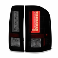 Spyder 07-13 Chevy Silverado / GMC Sierra V2 LED Tail Lights - Black Smoked