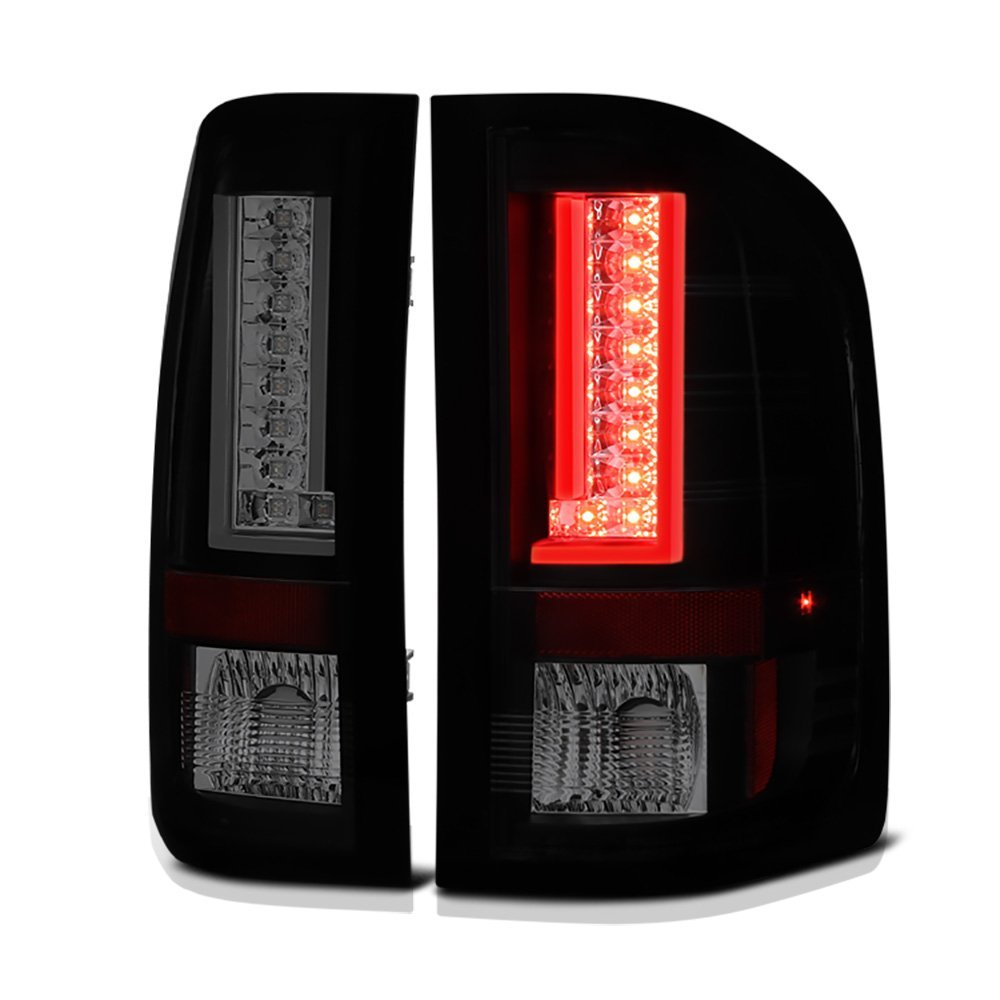 Gmc Sierra V2 Led Tail Lights Black Smoked Click To Enlarge