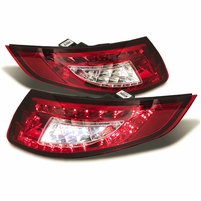 Porsche 997 05-08 LED Tail Lights - Red Clear
