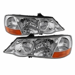Spyder HD-JH-ATL02-HID-C Acura TL 2002-2003 HID Model Only OEM Style headlights - Chrome