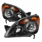 Spyder HD-JH-HCRV05-UK-BK 2005-2006 Honda CRV (UK Built Models Only) OEM Style Headlights - Black