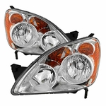 Spyder HD-JH-HCRV05-UK-BK 2005-2006 Honda CRV (UK Built Models Only) OEM Style Headlights - Chrome
