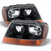 Spyder HD-JH-JGC99-AM-BK Jeep Grand Cherokee 99-04 Laredo Crystal Headlights -Black