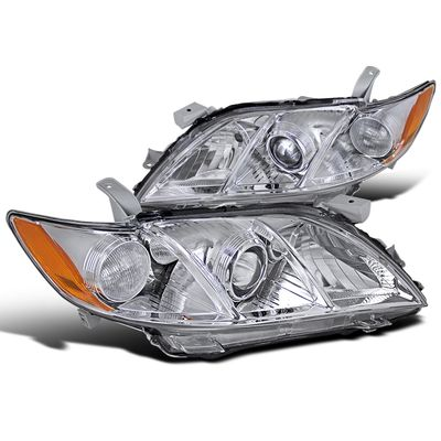 07-09 Toyota Camry [Do not fit Hybrid Model] Replacement Projector Headlights - Chrome