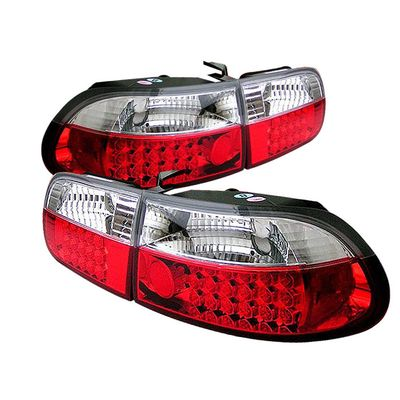 1992-1995 Honda Civic 3dr Hatchback LED Tail Lights - Chroem