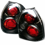 Spyder Honda Civic EK 96-00 3Dr JDM Altezza Tail Lights - Black Chrome