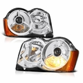 Jeep Grand Cherokee 08-10 Halogen Model Only ( Don_t Fit HID Models ) OEM Style Projector Headlights - Chrome