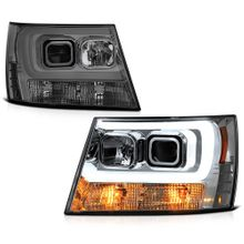 Spyder PRO-YD-CSUB07V2-DRL-SM Chevy Suburban 1500/2500 07-14 / Chevy Tahoe 07-14 / Avalanche 07-14 Version 2 Projector Headlights - Light Bar DRL - Smoke