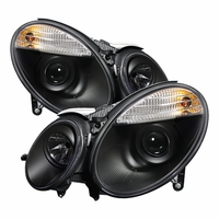 03-06 Mercedes Benz E-Class [ Xenon/HID Model Only] Projector Headlights - Black