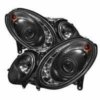 03-06 Mercedes Benz E-Class[ Xenon/HID Model Only] LED DRL Projector Headlights - Black