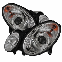 03-06 Mercedes Benz E-Class[ Xenon/HID Model Only] LED DRL Projector Headlights - Chrome