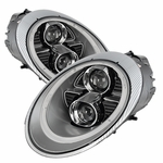 Spyder PRO-YD-P99705-HID-DRL-SL Porsche 911 997 2005-2009 Projector Headlights -  Xenon/HID Model Only [Factory HID Model] - DRL LED - Silver