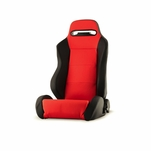 Spyder RST-TH-01-RD-DR Thunder Style Racing Seat PU (Double Slider) - Red/Black - Driver Side