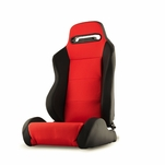Spyder RST-TH-01-RD-PA Thunder Style Racing Seat PU (Double Slider) - Red/Black - Passenger Side